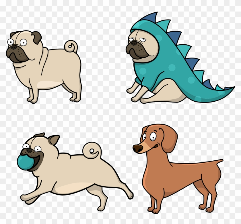 Full Size Of Puppy Drawing Step By Cartoon Tutorial Cute Dog Stickers Png Clipart 1486756 Pikpng
