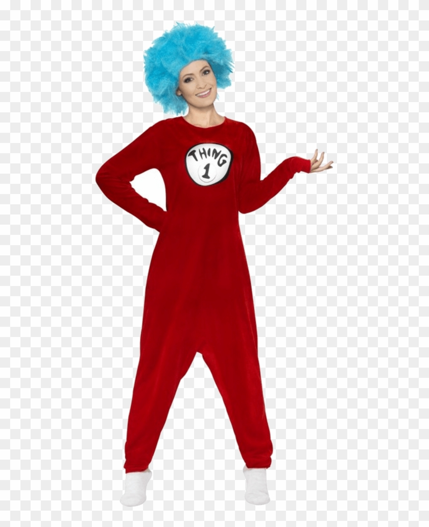 Adult Thing 1 Or Thing 2 Costume - Thing 1 Thing 2 Costume Clipart #1486934