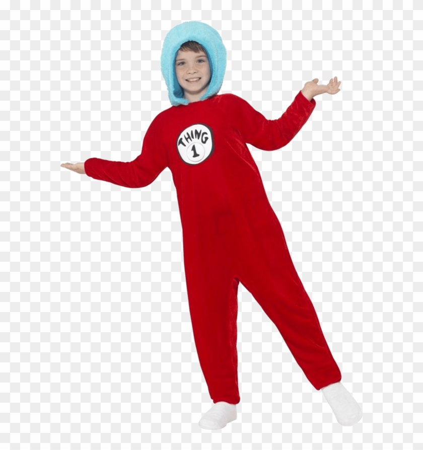 Child Thing 1 Or Thing 2 Costume - Thing 1 And Thing 2 Uk Clipart #1487181