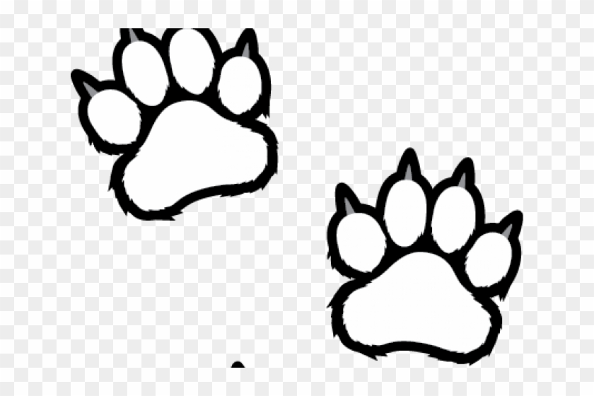 white tiger clipart tiger paw - clip art tiger paws - png download  (#1493496) - pikpng  pikpng