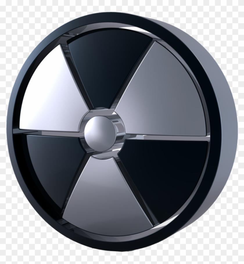 Black And White Radiation Symbol - Radioactive Symbol Clipart #1498017