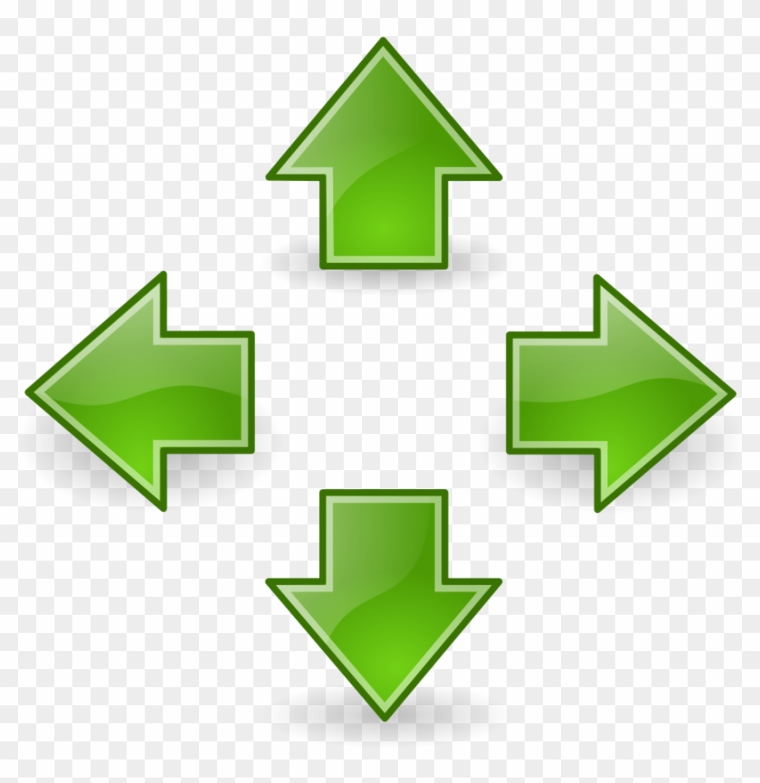 Line Arrows Curved Clipart Green Clipartfest - Up Down Left And Right - Png Download #151402