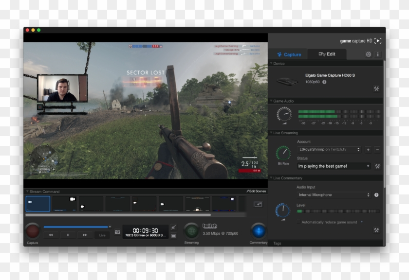 New Software Architecture To Make Stream Command Work, - Game Capture Hd Overlays Clipart #151533