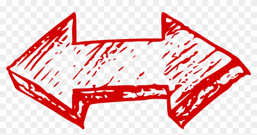 Double Red Arrow Transparent Png Stickpng Ⓒ - Hand Drawn Red Arrow Icon Clipart #152167