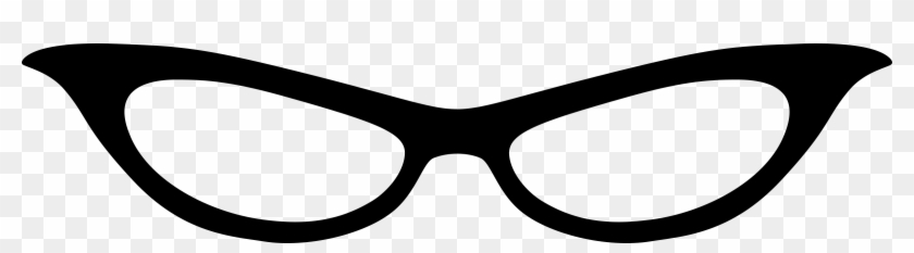 Movember Shutter Glasses Png Clipart Image - Cat Eye Shades Clipart Black And White Transparent Png #153551