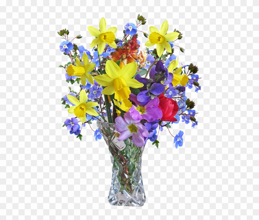Flower, Vase, Spring, Arrangement - Hd Image Of Flower Vase Clipart #153636