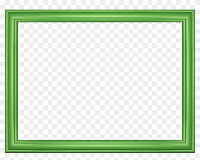 Green Borders And Frames Png 7 Png Image - Transparent Picture Frame Green Clipart #155003