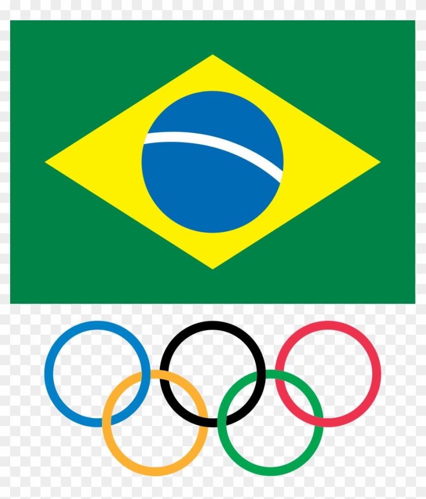 Brazilian Olympic Committee Logosvg Wikimedia Commons - Olympic Refugee Team Flag Clipart #155390