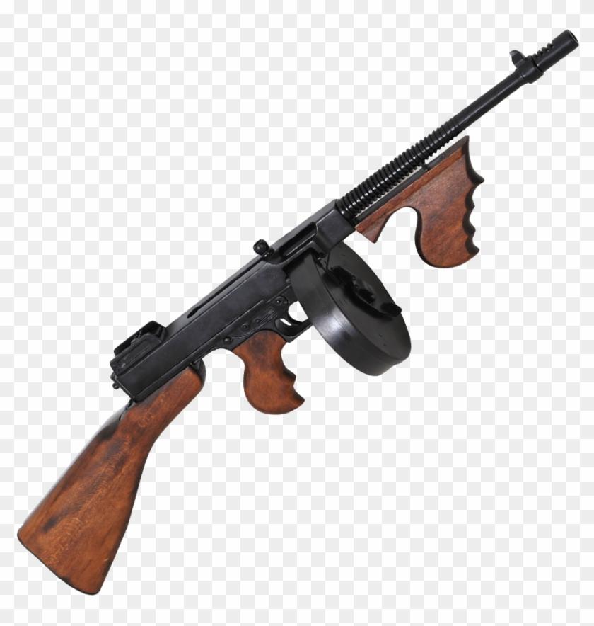 Machine Gun Png Transparent Image - Thompson Machine Gun Png, Png Download #156788