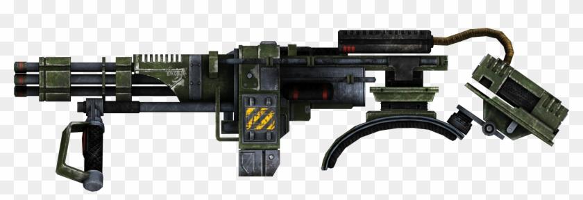 Real Gun Png - Fallout New Vegas Shoulder Mounted Machine Gun Clipart #156859