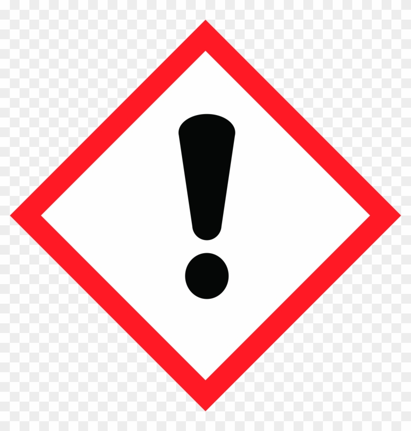 Ghs07 Warning Toxic Cat - Exclamation Mark Pictogram Clipart #157782