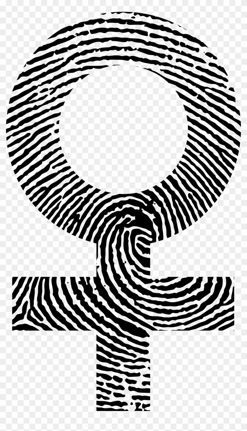 This Free Icons Png Design Of Female Symbol Fingerprint Clipart #158734