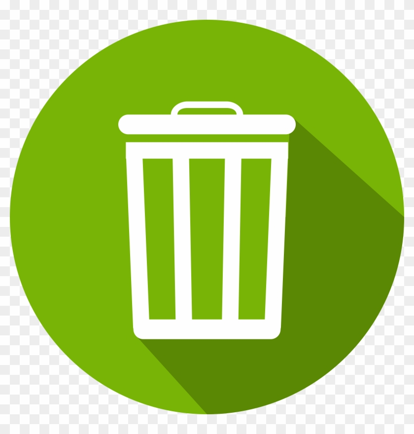 More Often Than Not, They Will Not Collect Your Garbage - Trash Can Flat Design Clipart #158935