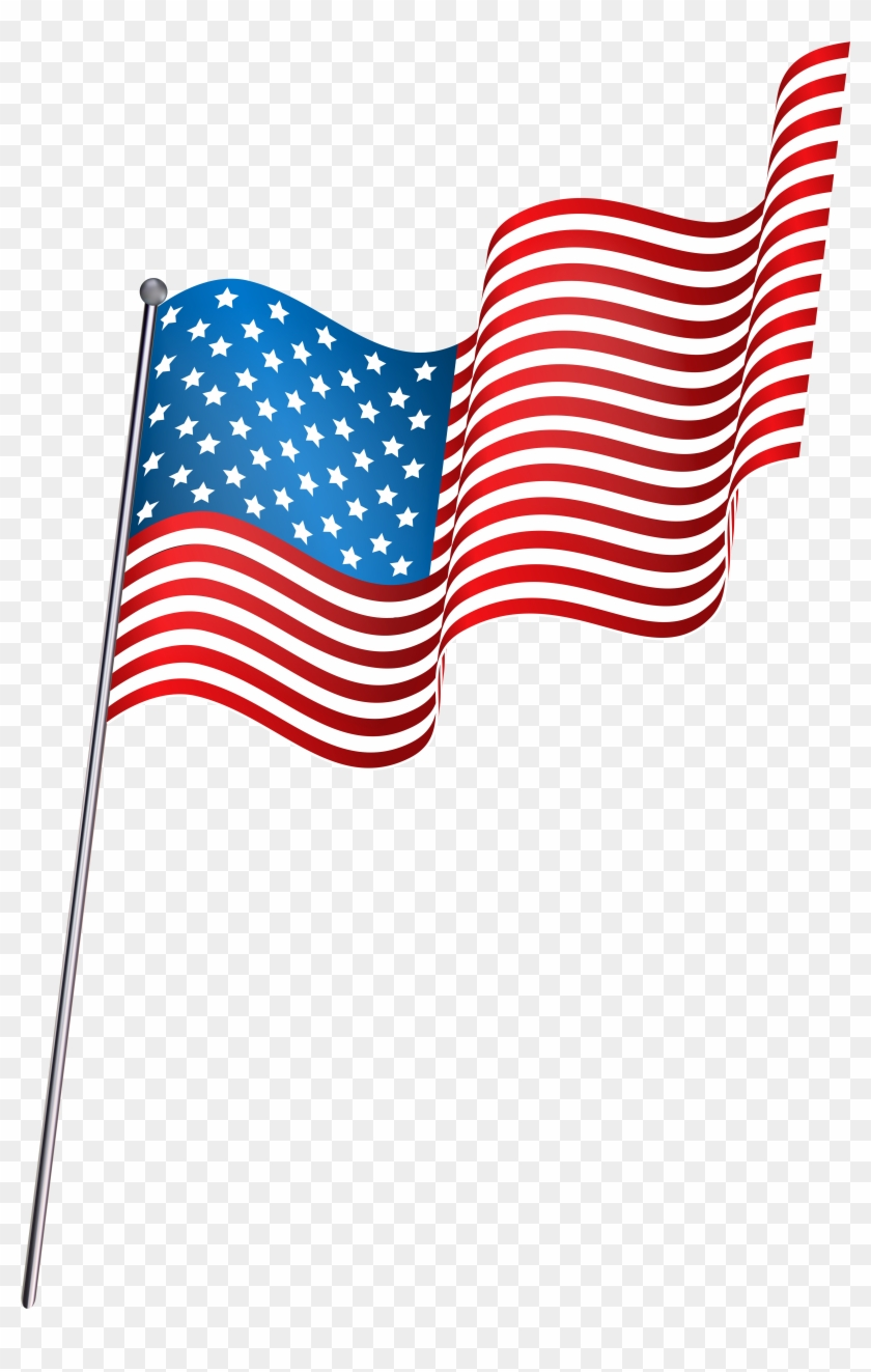 Transparent American Flag Clipart, HD Png Download #159249