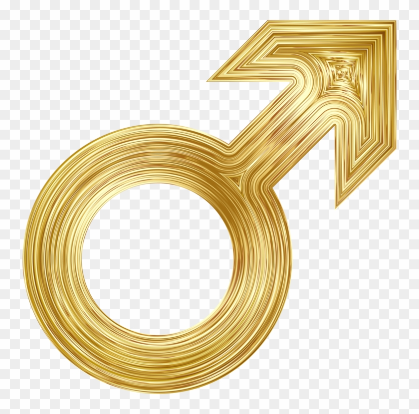 Gender Symbol Female Computer Icons - Male Symbol Gold Png Clipart #159337
