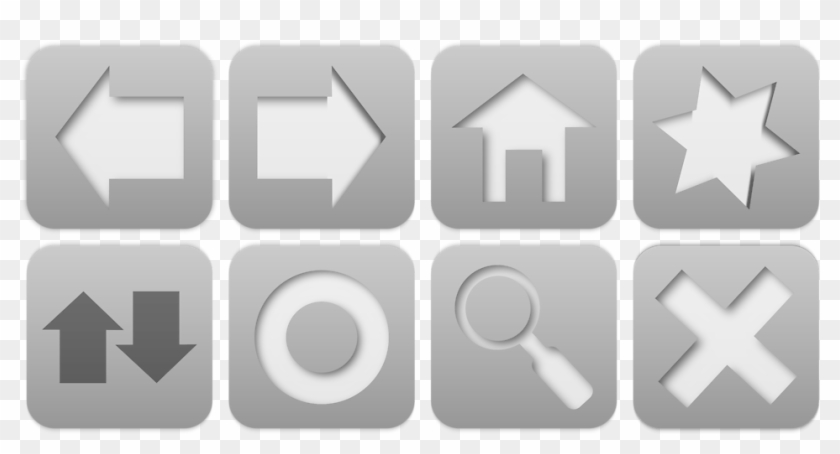 How To Use A Computer To Upload To Instagram - Web Browser Navigation Buttons Clipart #1501184