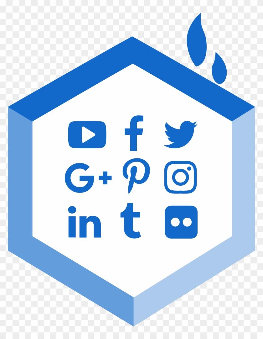 Easy Social Media Links - Facebook Instagram Twitter Silhouette Clipart #1501216