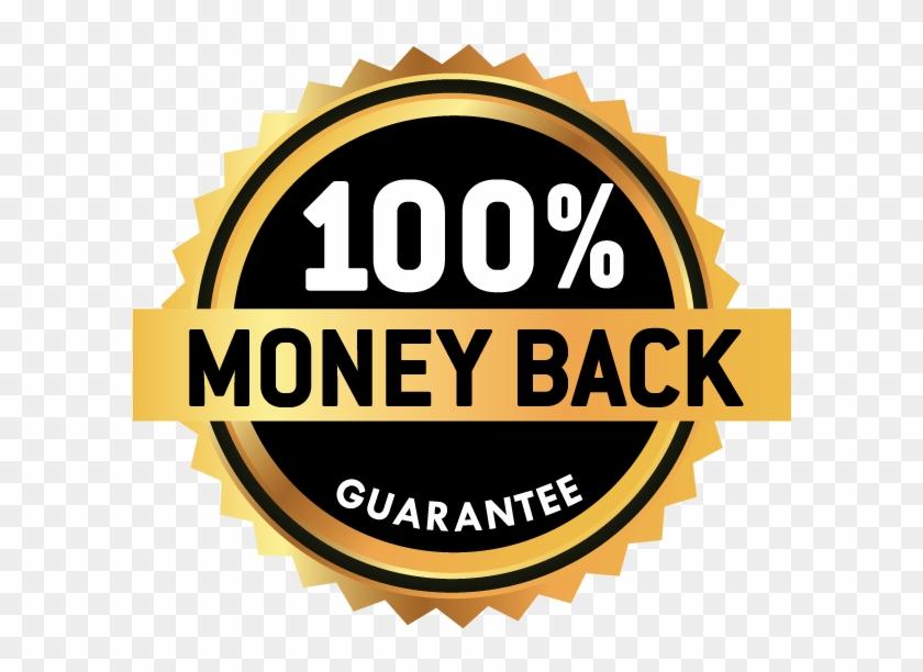 100% Money Back Guarantee - Circle Clipart (#1501872) - PikPng