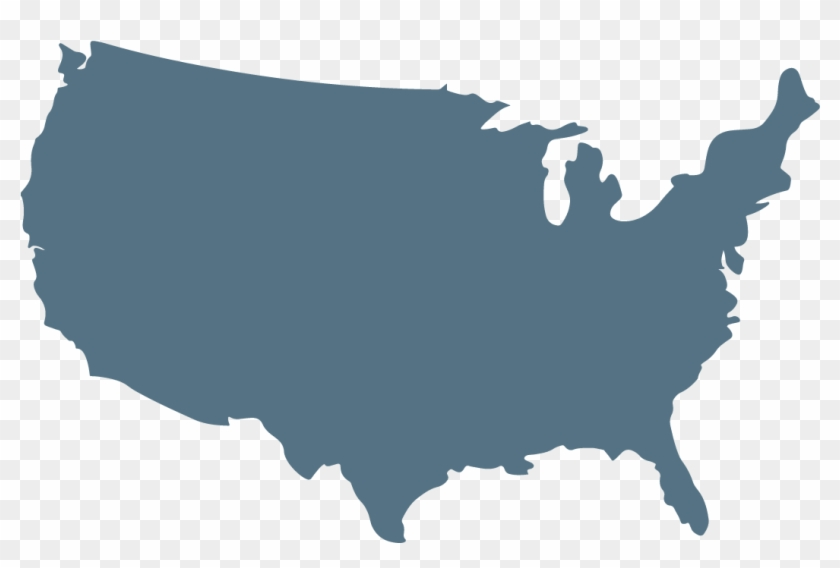 Us Map Outline - Dodge City On Map Clipart #1504877