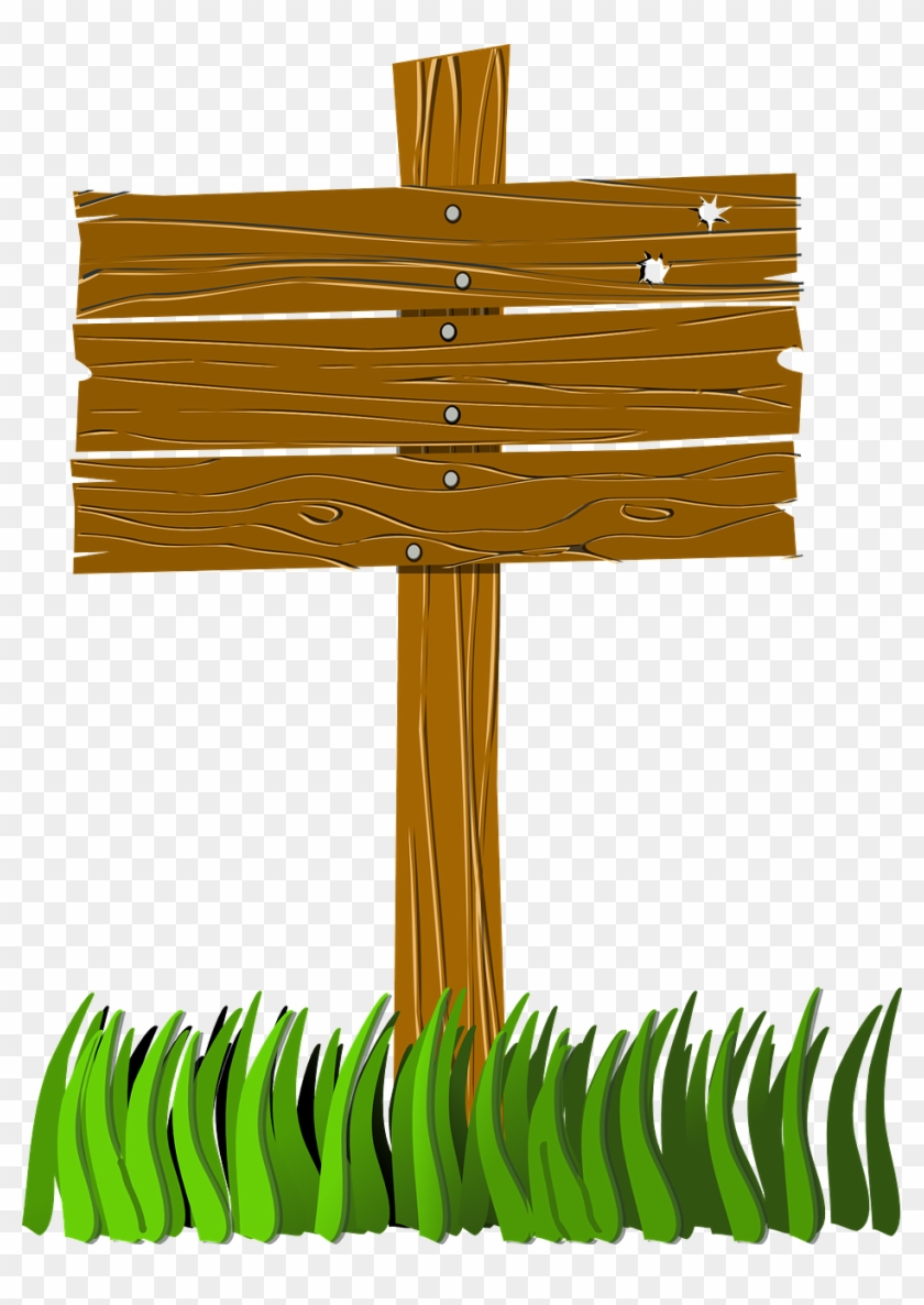 Blank Camp Sign Png Pluspng - Wooden Sign Post Clip Art Transparent Png #1505625