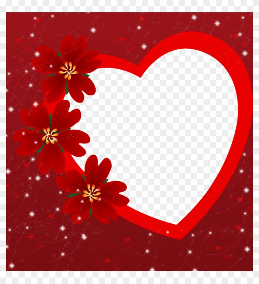 Valentines Day Heart Frame Png Photo Arts - Valentine Day Photo Frame Clipart #1512151