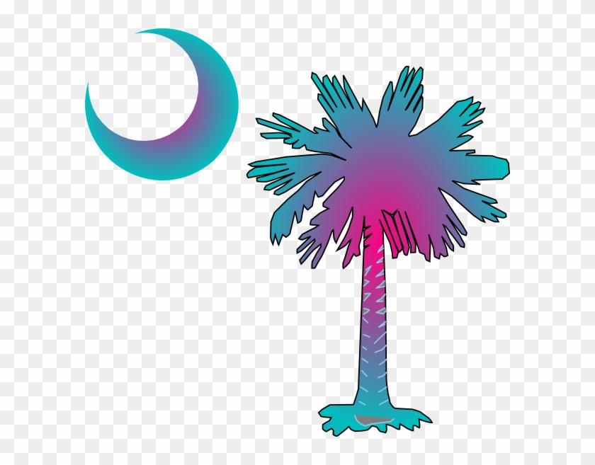 Sc Palmetto Tree Clip Art At Clkercom Vector - Palmetto Tree And Crescent Moon - Png Download #1520985