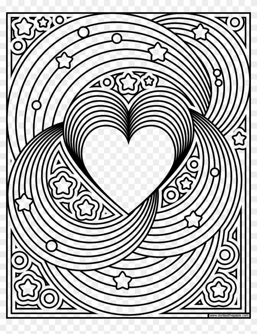 Rainbow Love Coloring Page- Available In Jpg And ...