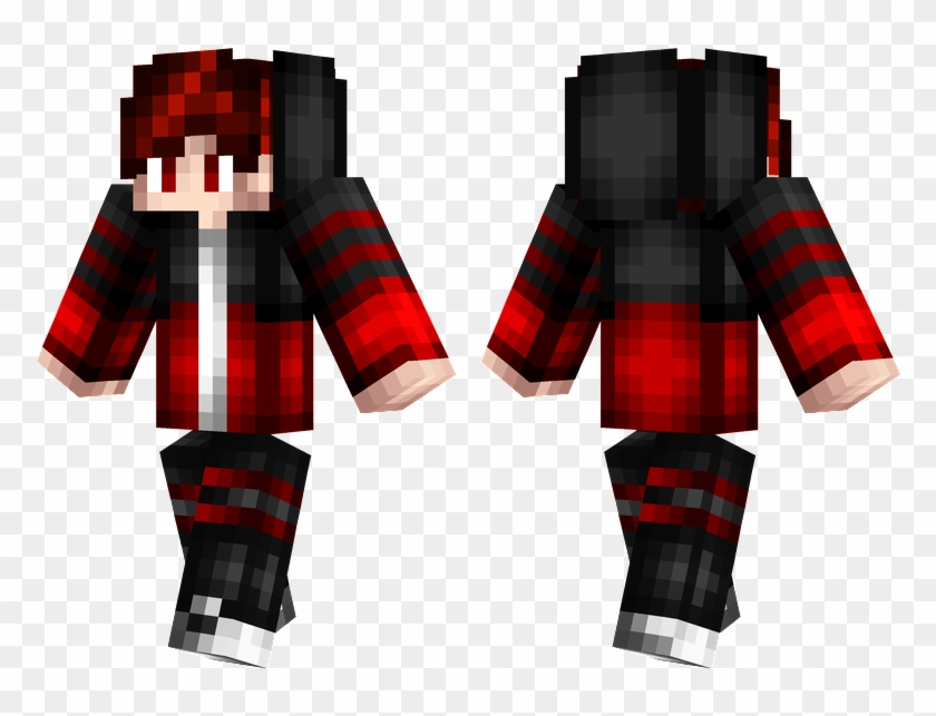 Red Hair Green And Black Minecraft Skins Clipart 1523520 Pikpng