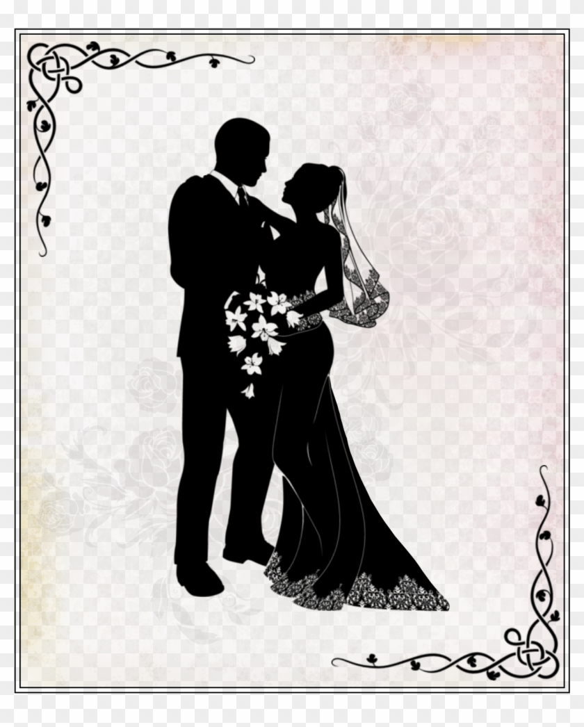 I Decoupage Printables, Digital Stamps, Scrapbooking, - Wedding Couple Clipart Png Transparent Png #1525268
