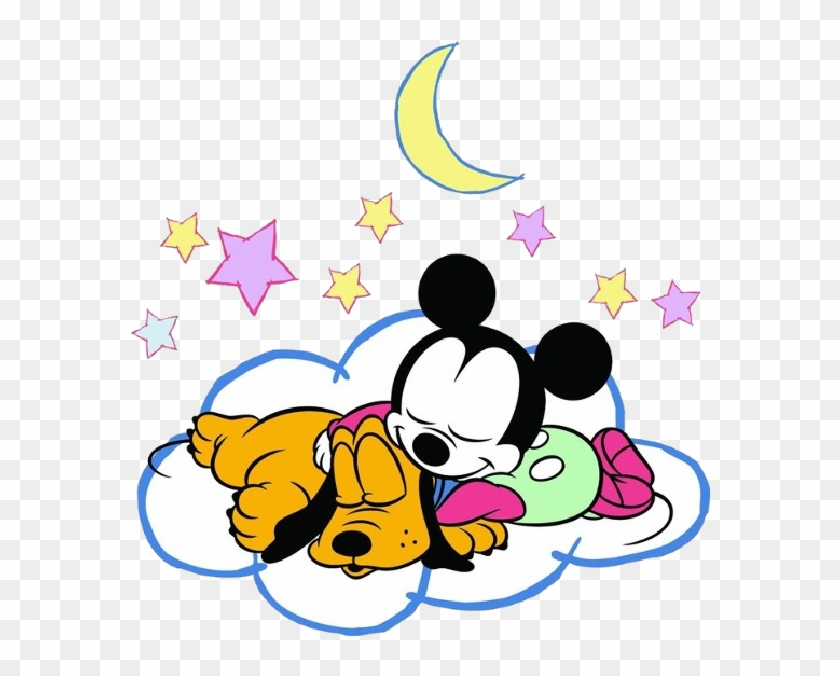 Baby Minnie Mouse And Pluto Sleeping Png Baby Mickey - Sleepy Mickey And Minnie Mouse Clipart #1531796