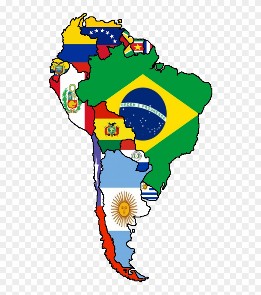 Flags Of South United States Map - Map Latin America Flag ...
