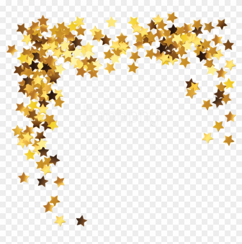 Free Png Download Gold Stars Decorationpicture Clipart - Star Border Transparent Png #1533810