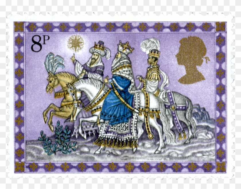 Royal Mail Celebrates 50 Years Of Christmas Stamps - Timbre Postal Reyes Magos Clipart #1535970