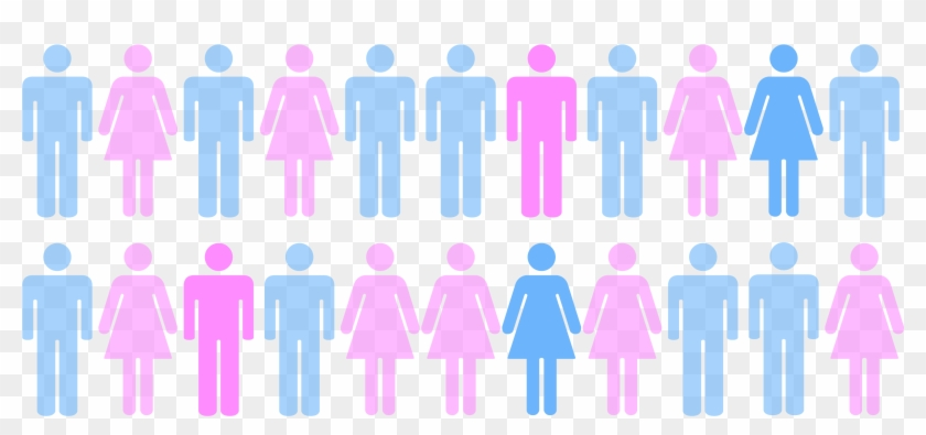 1 In 4 Statistic Sticker (3333x1667) - Male And Female Toilet Signs Clipart #1540780