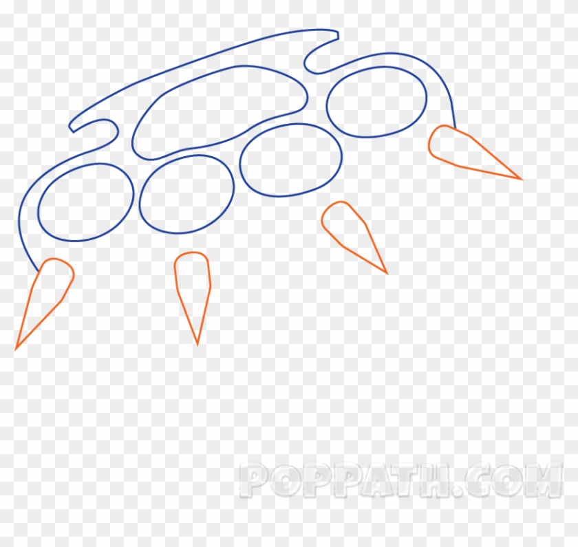 Brass Knuckles Png - Drawing Clipart #1543080