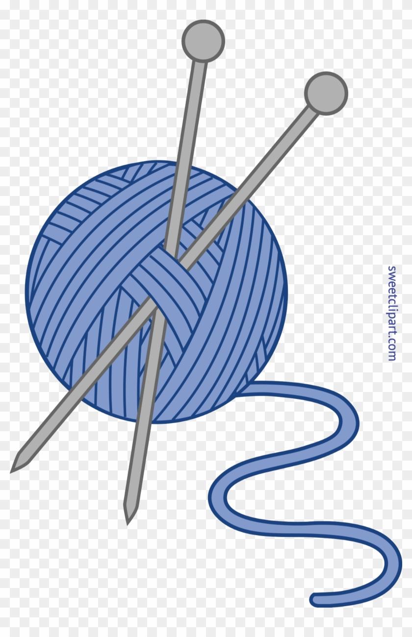 Knitting At Getdrawings Com - Knitting Needles Clip Art - Png Download #1543542