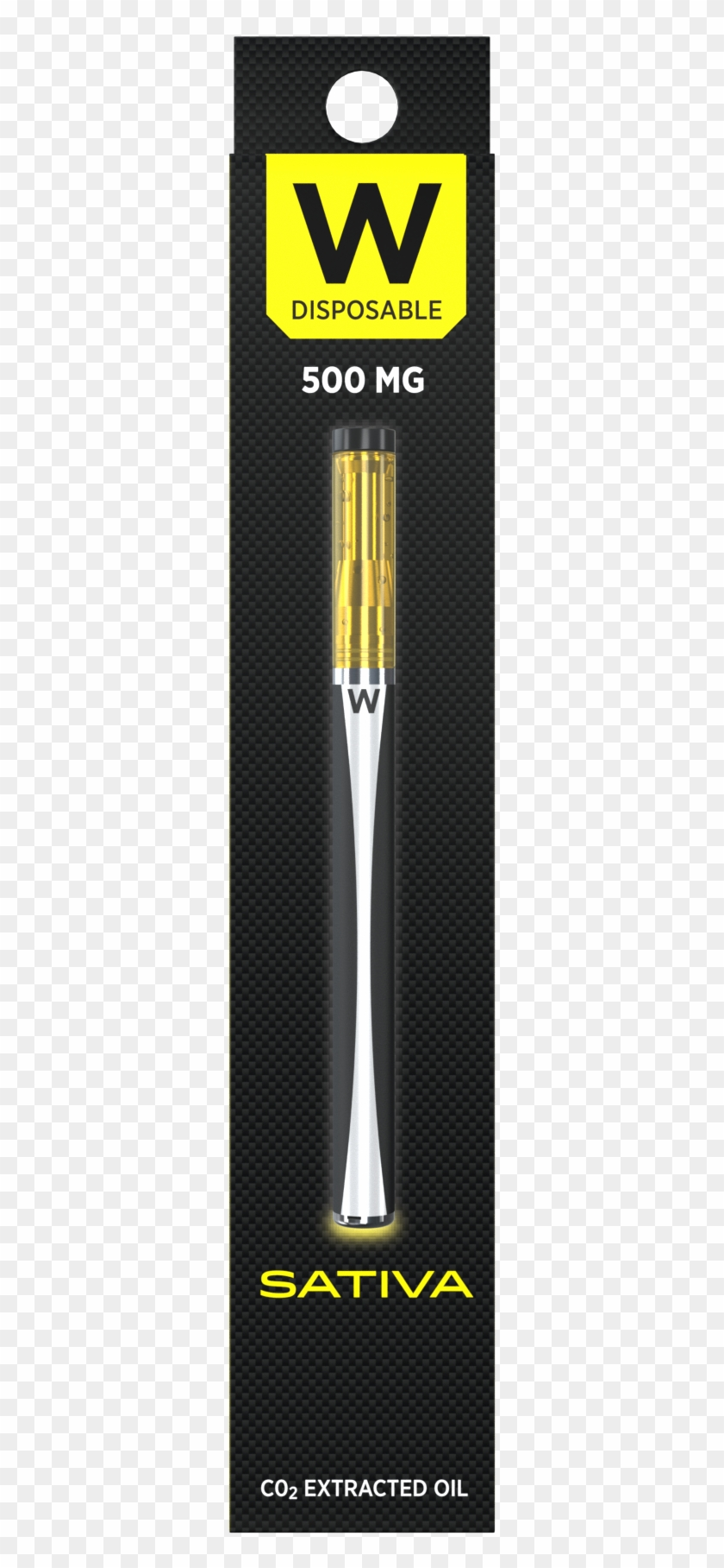 Durban Poison Sativa 500mg Vape Pen By W Vapes - Paper Product Clipart #1544504