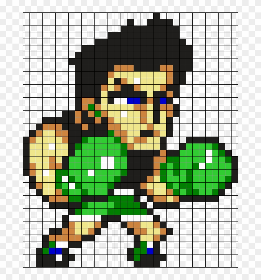 Little Mac Perler Bead Pattern / Bead Sprite - Little Mac Pixel Art Clipart #1553123