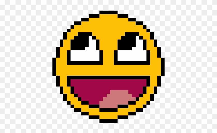 Awesome-derpy Face - Dibujos Cuadriculados De Emojis Clipart ...