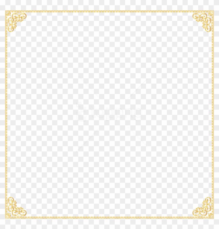 Free Png Gold Border Frame Png - Golden Border Transparent Background Clipart #1555484