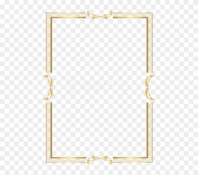 Free Png Download Gold Border Frame Clipart Png Photo - Transparent Background Gold Border Clipart #1555609