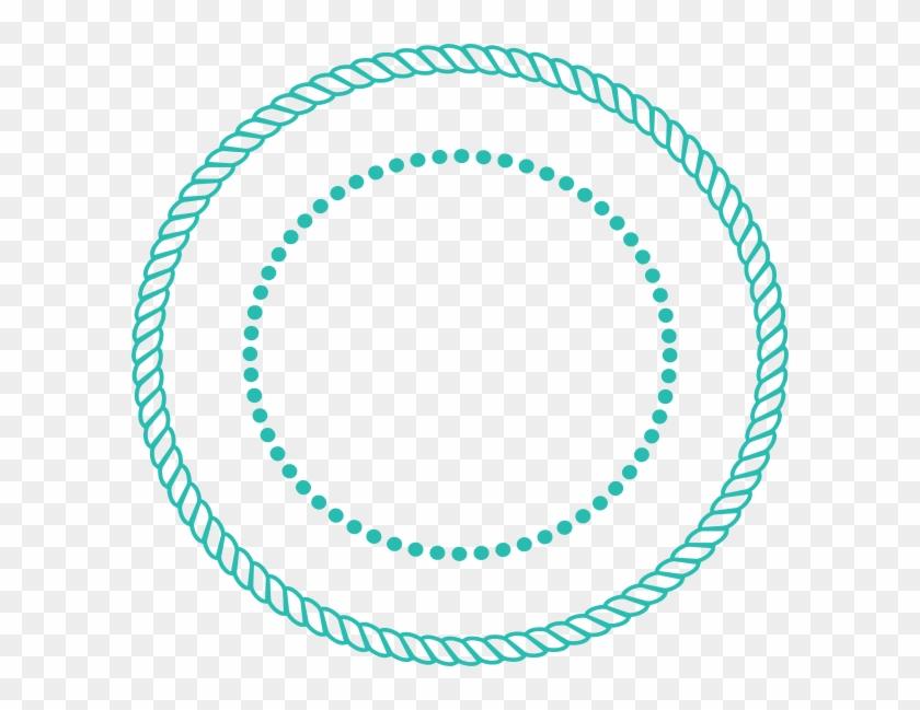 600 X 569 5 - Circle Rope Border Vector Clipart #1562268