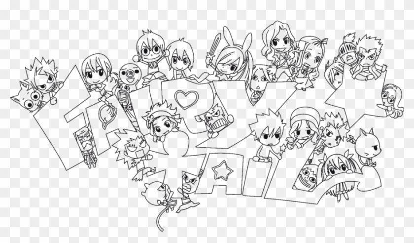 Fairy Tail Anime Chibi Coloring Pages Yvaqq0q Fairy - Fairy Tail Chibi Characters Drawing Clipart #1564347