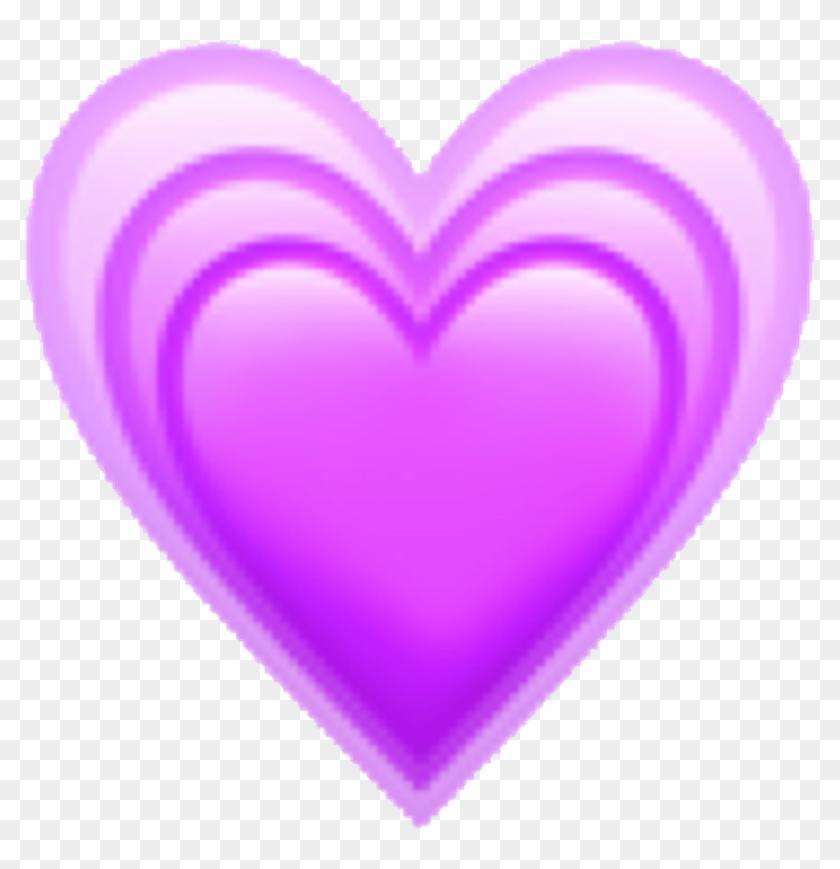 #kawaii #cute #purple #emoji #heart #art #aesthetic - Aesthetic Emoji Heart Png Clipart #1565347