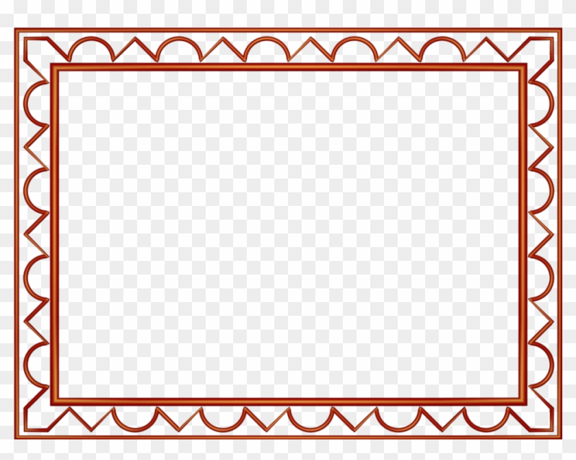 Red Artistic Loop Triangle Rectangular Powerpoint Border - Simple Borders Design Red Clipart #1567611