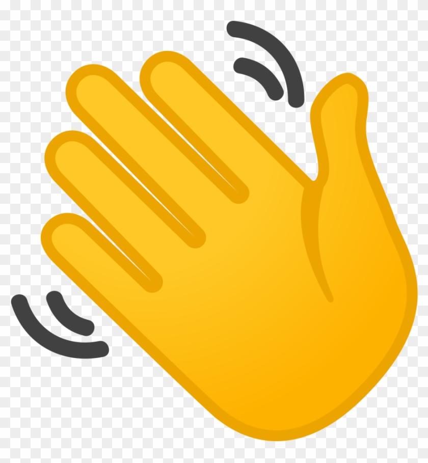 Waving Hand Icon - Emoji Winkende Hand Clipart (#1572656