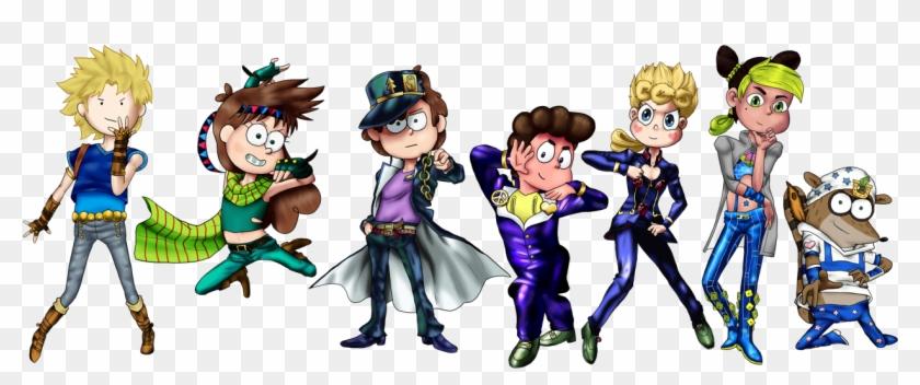 Modern Cartoon Characters Posing As Jojo S Bizarre Regular Show Bizarre Adventure Clipart 1574034 Pikpng