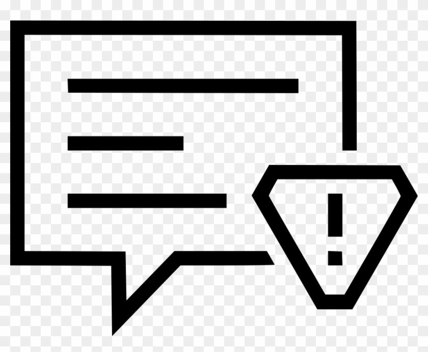 Message Alert Bubble Conversation Talk Attention Comments Clipart #1580385