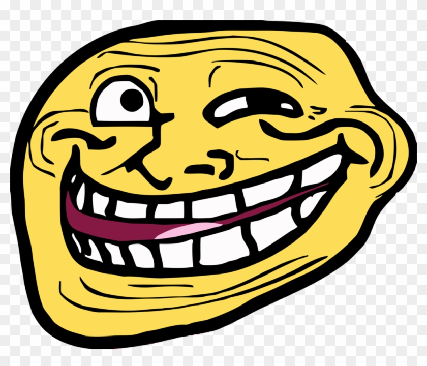 Troll Faces List Download - Troll Face Smiley Clipart #1581043