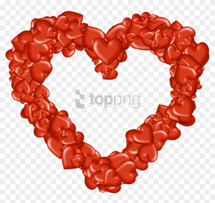Free Png Download Heart Made Of Hearts Png Images Background - Heart Outlined Transparent Clipart #1582765